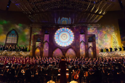 Christmas at Luther, Every Voice in Concert Ring. Photo by Nathan Riley