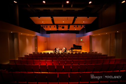 First-class music education, acoustic, staging, lighting, and rigging equipment in each performing arts space