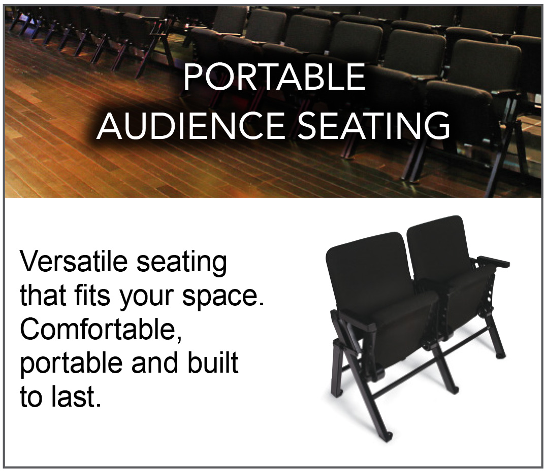 PORTABLE AUDIENCE SEATING