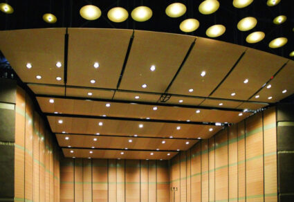 The Diva's ceiling panels also feature built-in Lieto™ LED light fixtures.